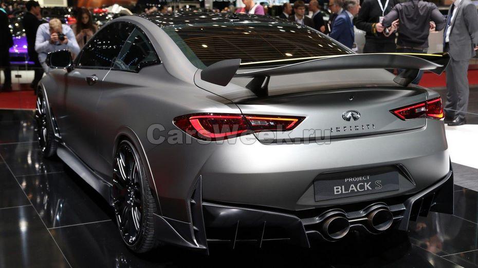 Купе Инфинити Q60 Project Black S снабдят особыми шинами отPirelli