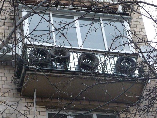 Можно ли хранить шины на балконе..