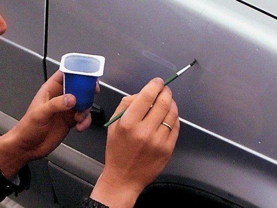 Заделка царапин на автомобиле своими руками