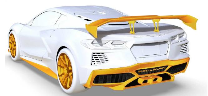 Тюнеры Callaway представили доработанный Corvette C8 в преддверии скорого дебюта