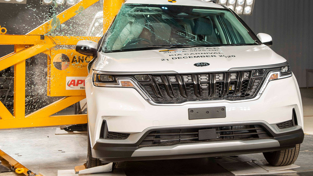 Kia Carnival нового поколения выдержал краш-тесты от специалистов ANCAP