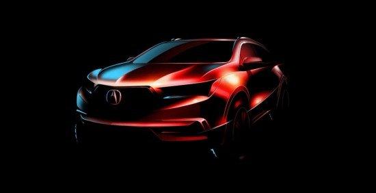 Acura показала как будет выглядеть новое поколение кроссовера MDX