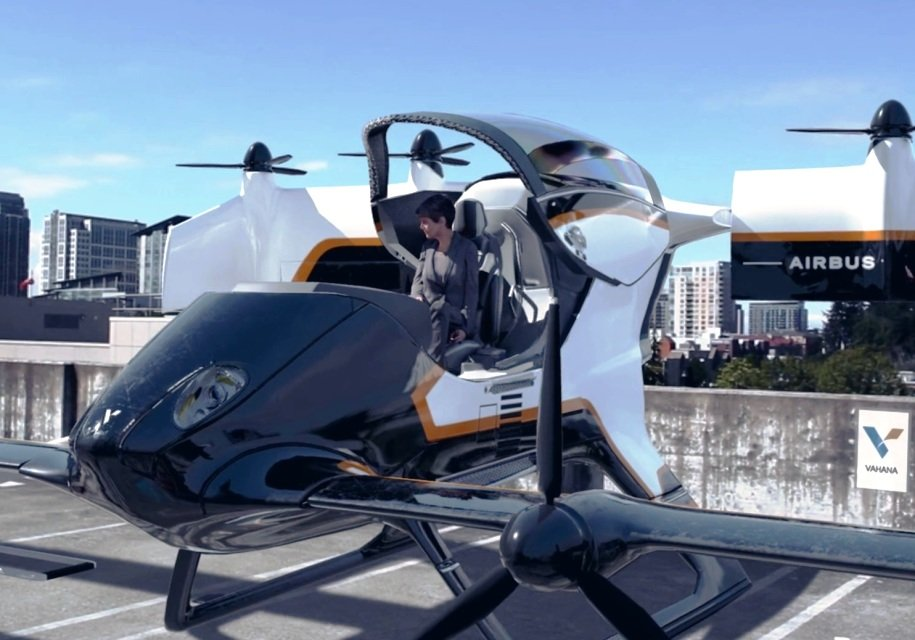 Вweb-сети  появилось видео спервым летающим такси