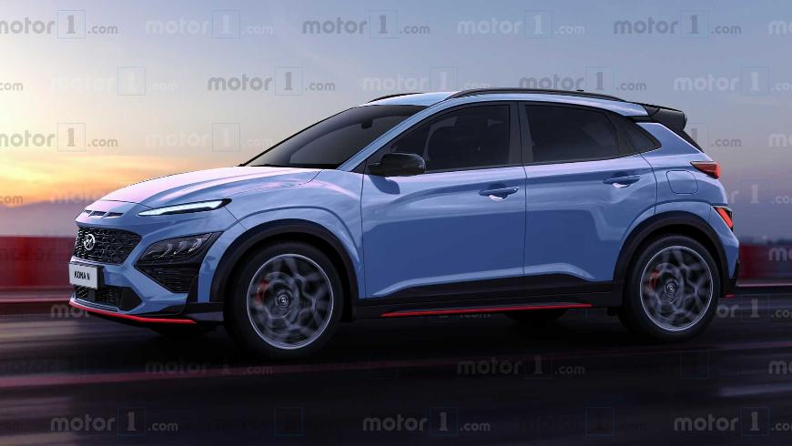 """Каким может быть """"заряженный"""" кроссовер Hyundai Kona N 2021?"""