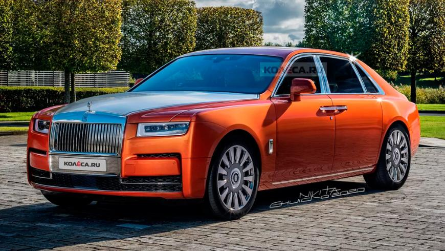 В Сети показали первые изображения нового Rolls-Royce Ghost