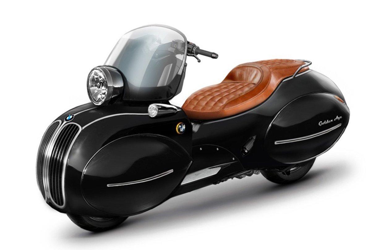 Американцы превратили скутер BMW в произведение искусства