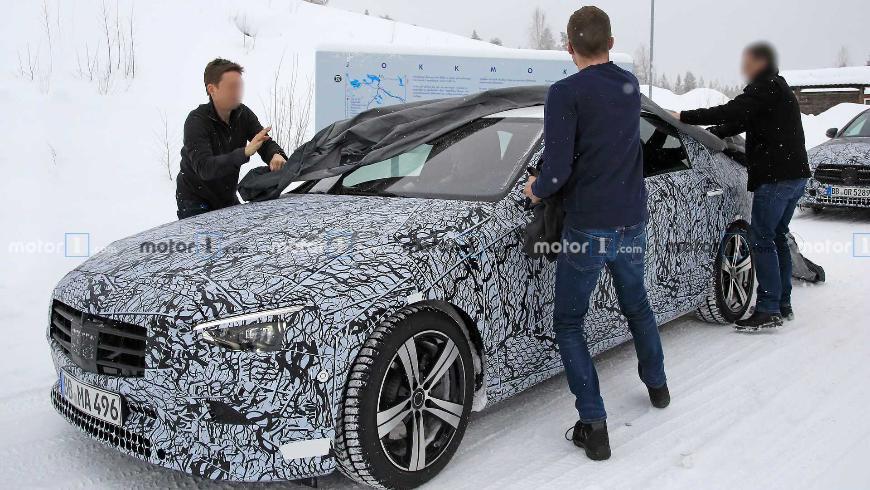 На тестах замечен прототип нового Mercedes C-Class