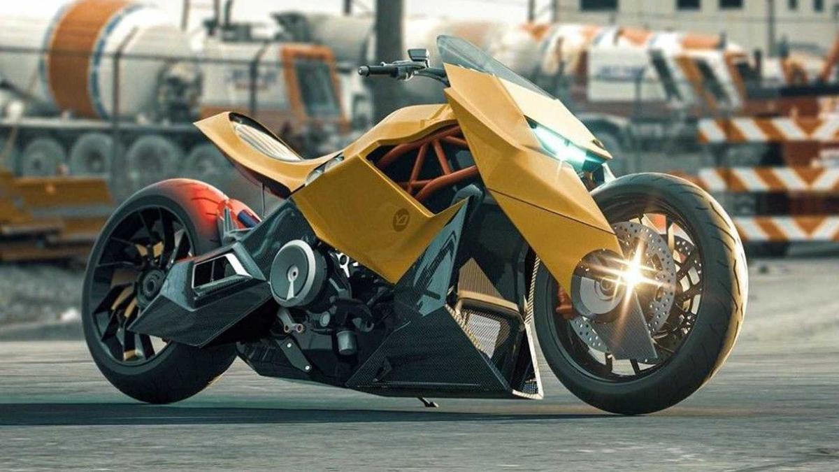 В Сети появился концепт мотоцикла от Lamborghini