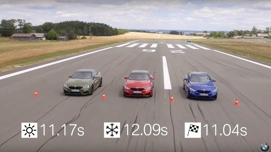 BMW показывает различия между разными типами шин в гонках