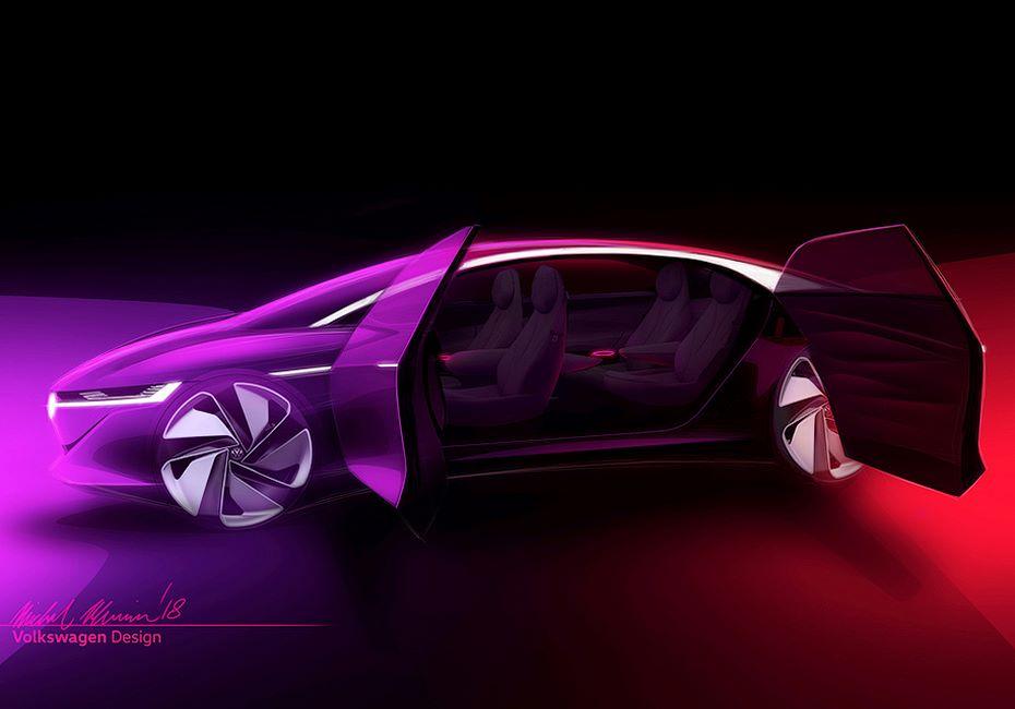 Первые изображения концепт-кар VW I. D. Vizzion