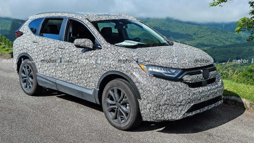 В Сети появились первые снимки обновленного кроссовера Honda CR-V 2020 года