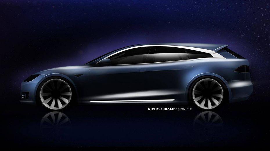 Вweb-сети представили дизайн универсала набазе Tesla Model S