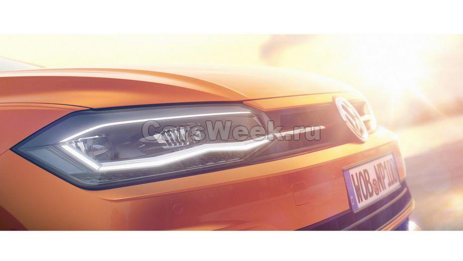 VolksWagen опубликовал очередной тизер нового Polo