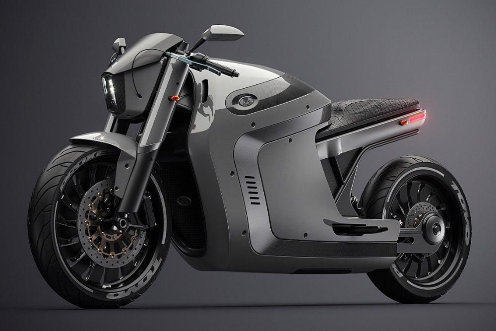 В сети показали электрический мотоцикл Lada