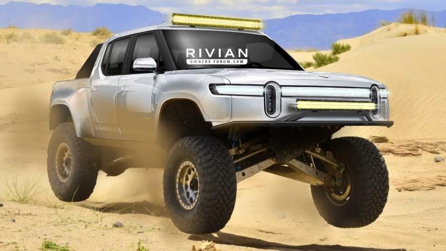 Электрический пикап Rivian R1T будет участвовать в ралли Baja-1000