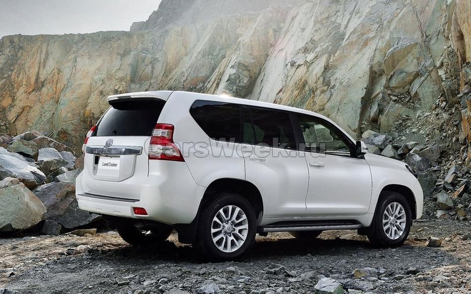 Обновлённый Тойота Land Cruiser Prado «засветился» напервых изображениях