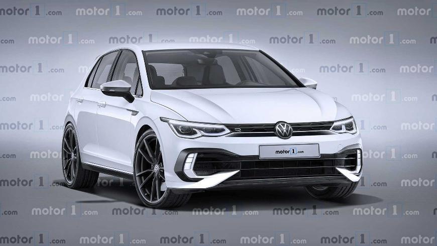 Как будет выглядеть «заряженный» хэтчбек VW Golf R нового поколения?