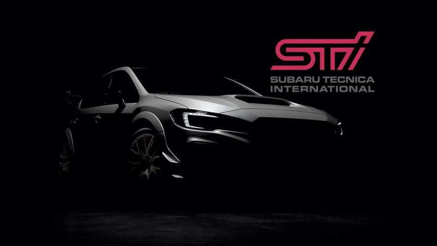 Нановом тизере седан Субару WRX STI S209 предстал без камуфляжной защиты