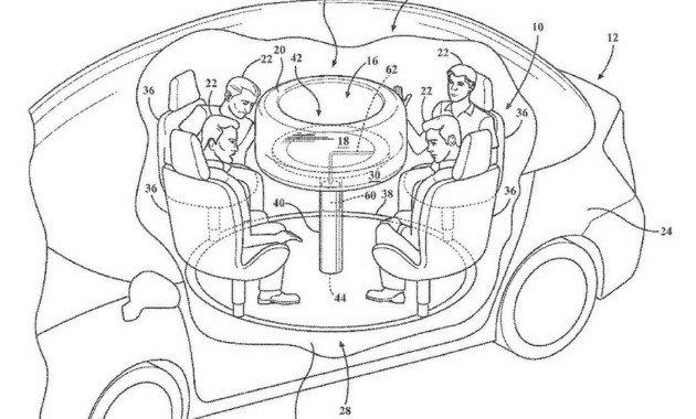 Американский Форд запатентовал круглый стол всалоне авто