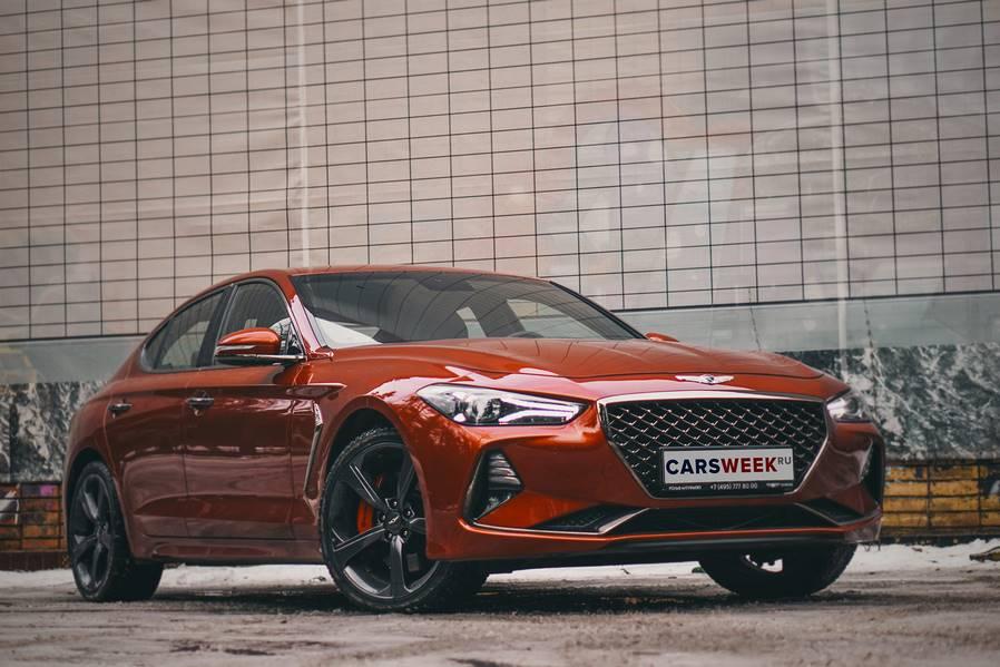 Тест-драйв седана Genesis G70 от CarsWeek.ru