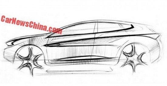 Вглобальной web-сети появились эскизы Чери Tiggo 7 SUV для китайского рынка