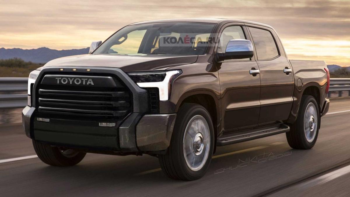 В Сети появился рендер на пикап Toyota Tundra 2022 модельного года