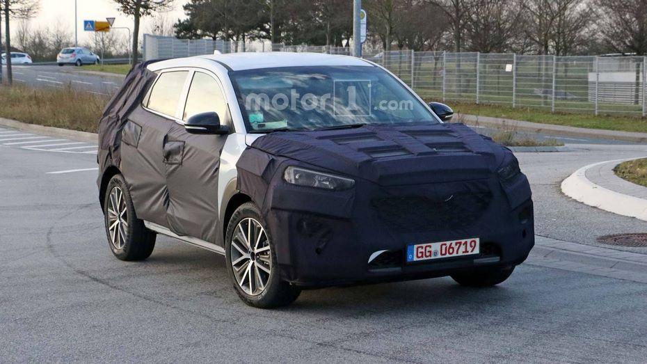 Hyundai Tucson 2019 модельного года впервые попался во время тестовых испытаний