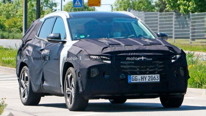 Новый Hyundai Tucson заметили с меньшим количеством камуфляжа