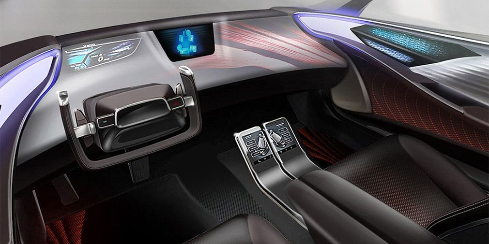 Toyota готовится к CES и представила тизер интерьера будущих беспилотников