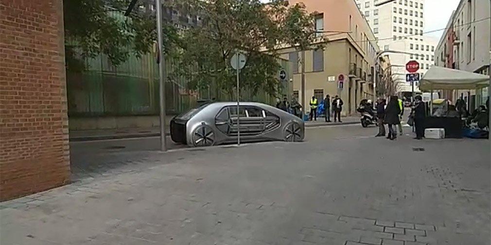 Рено тестирует автомобиль будущего