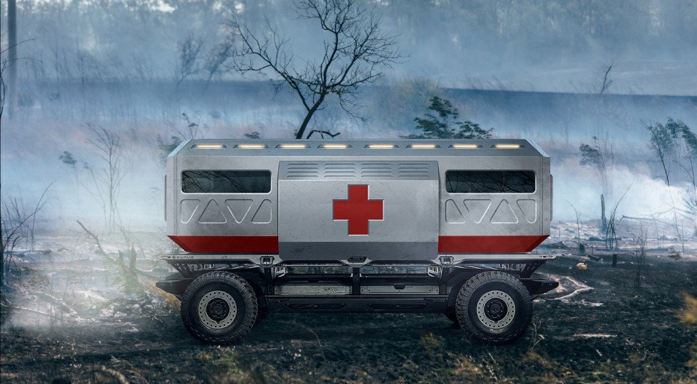 GM продемонстрировал автономное грузовое шасси натопливных ячейках