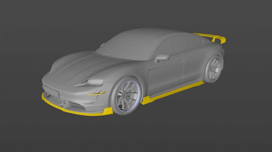 Электромобиль Porsche Taycan получил крутой аэродинамический обвес