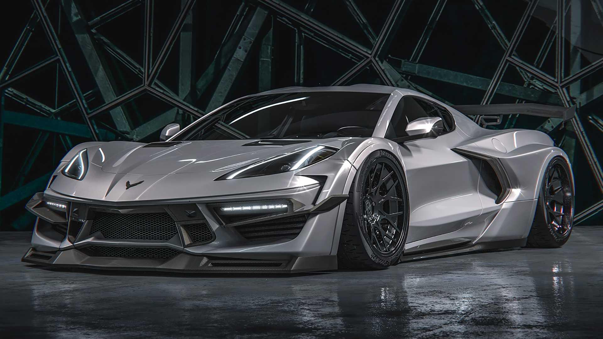 В Сети показали уникальный тюнинг для нового Chevrolet Corvette