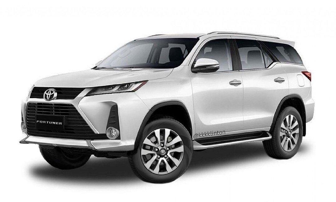 Обновленный Toyota Fortuner показали на новых рендерах
