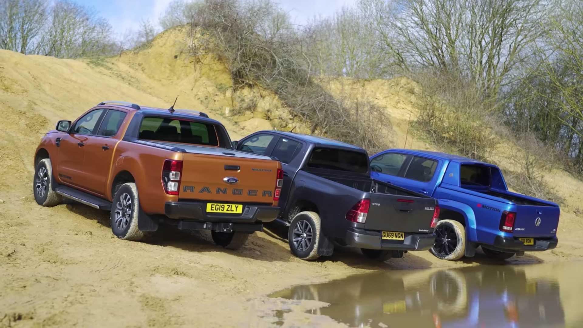 Кто лучше на бездорожье – Ford Ranger, VW Amarok или Toyota Hilux?