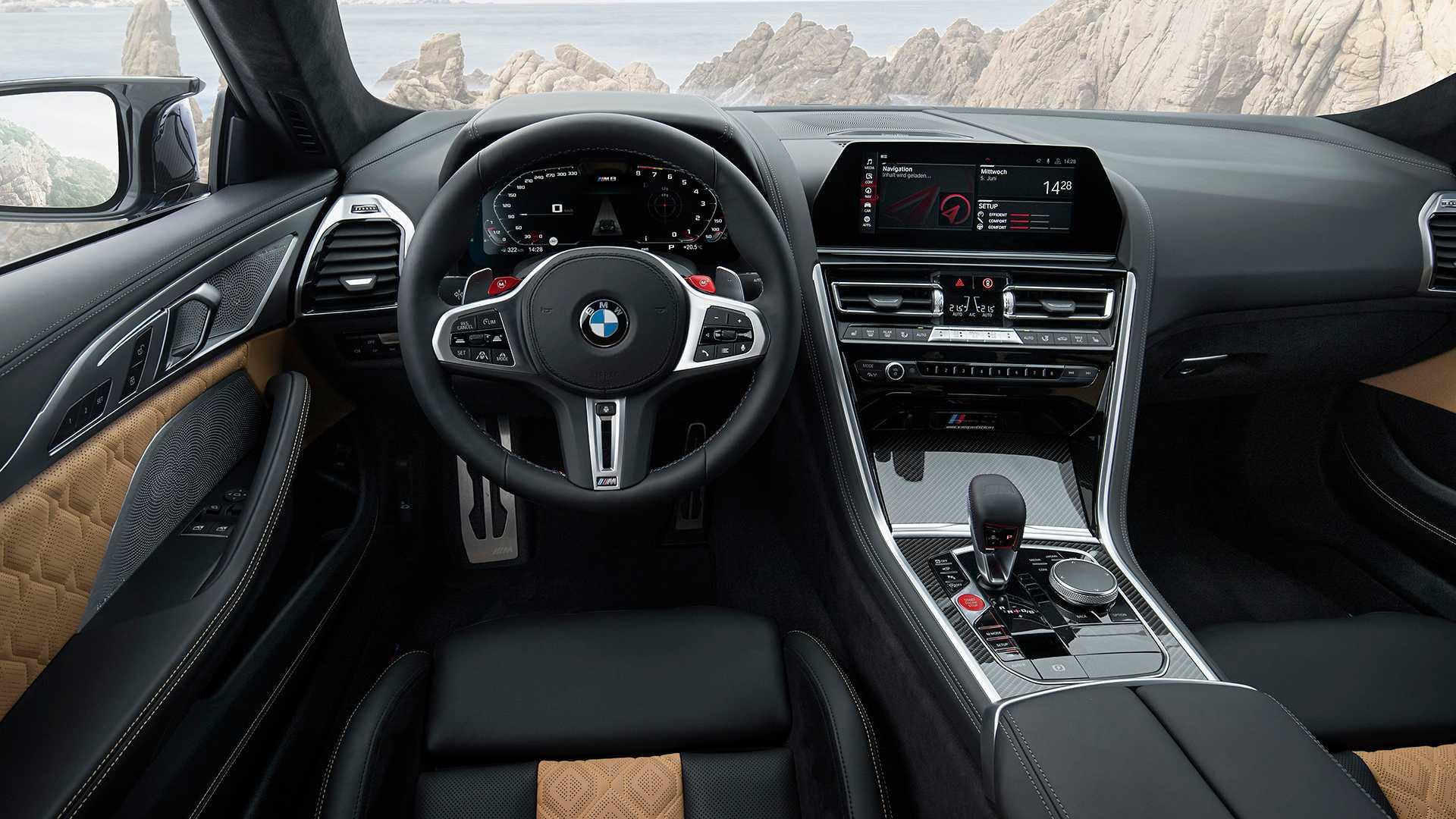 BMW M8 Competition несется по автобану со скоростью 308,93 км/ч