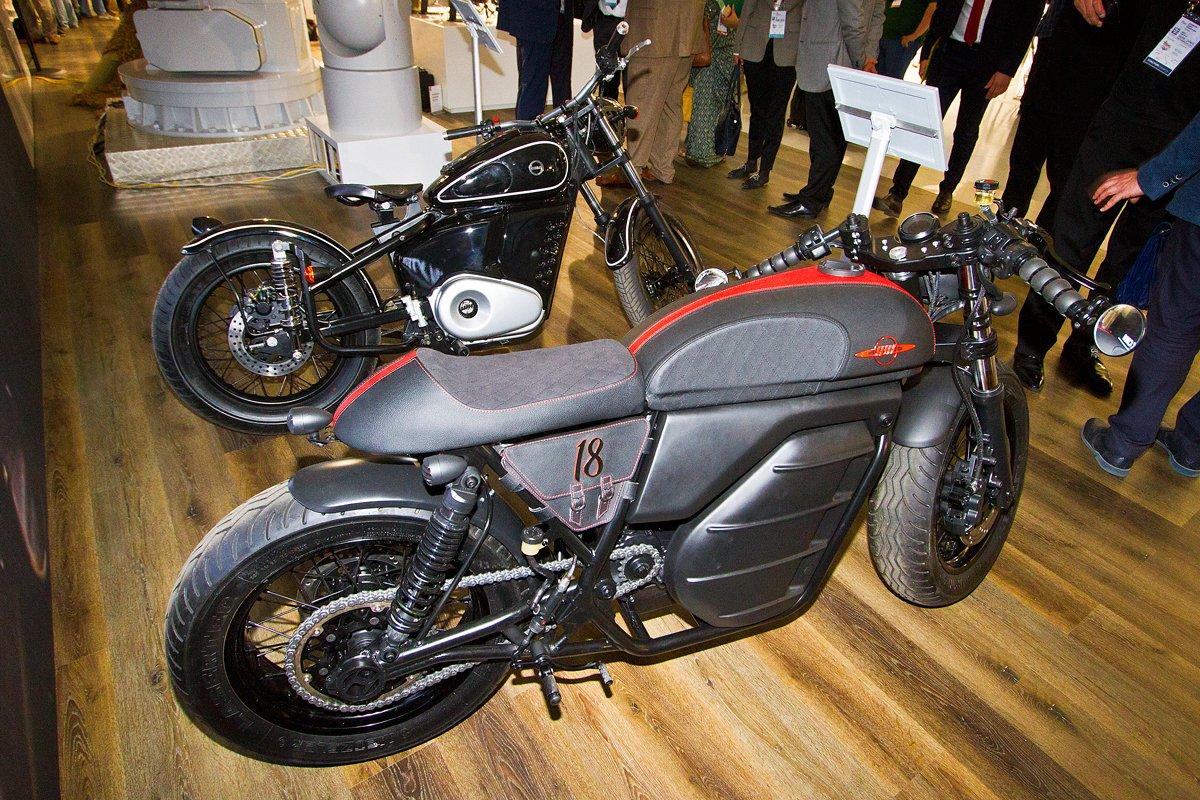 Уже завтра «Ростех» покажет электрический мотоцикл «Калашникова»