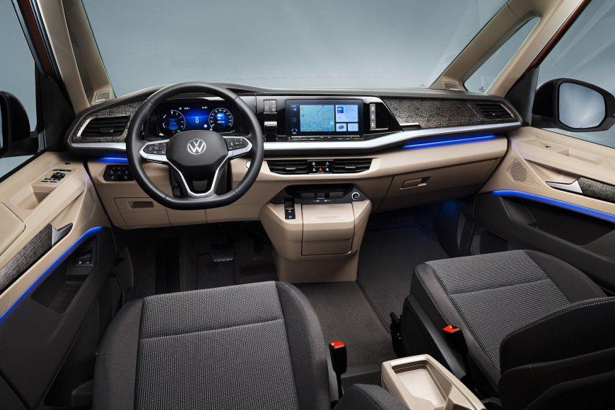 Новый VW T7 Multivan 2022 впервые получил гибридный агрегат и трансформируемый салон