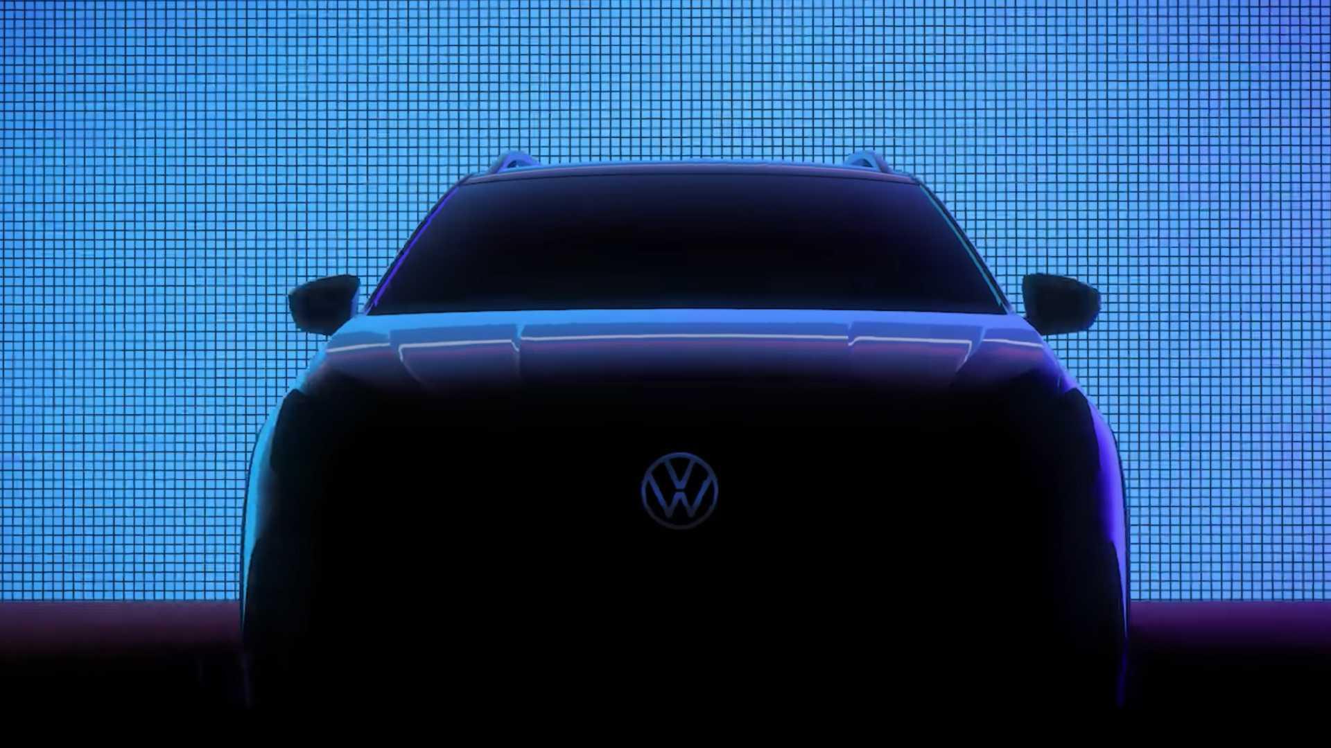 VW опубликовал тизер на новый кроссовер Nivus