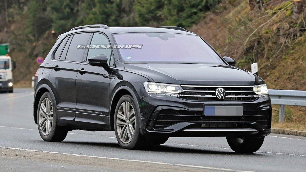 Обновленный Volkswagen Tiguan показали на официальном тизере
