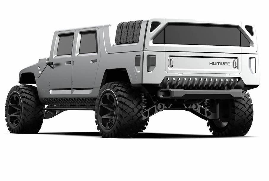 В интернете показали, как бы мог выглядеть электрический Hummer H1