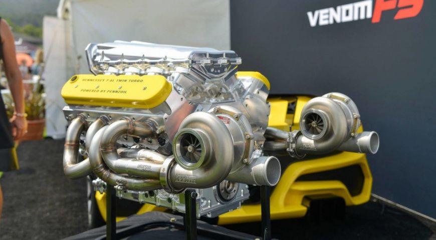 Hennessey раскрыла детали 1600-сильного мотора отVenom F5