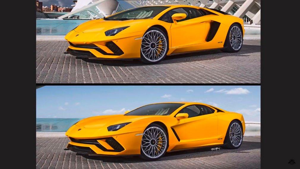Переднемоторный Lamborghini показали на рендере