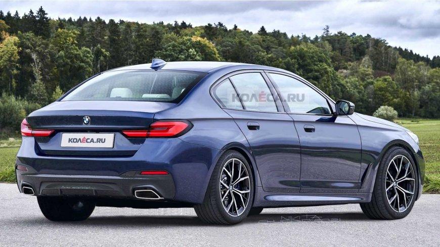 В Сети появились рендеры на обновленный седан BMW 5 Series