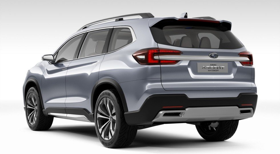 Концепт Subaru Ascent Concept: вид сзади