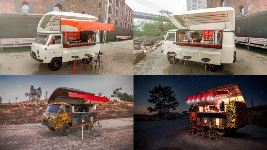 Уазовскую «Буханку» превратили в передвижное кафе
