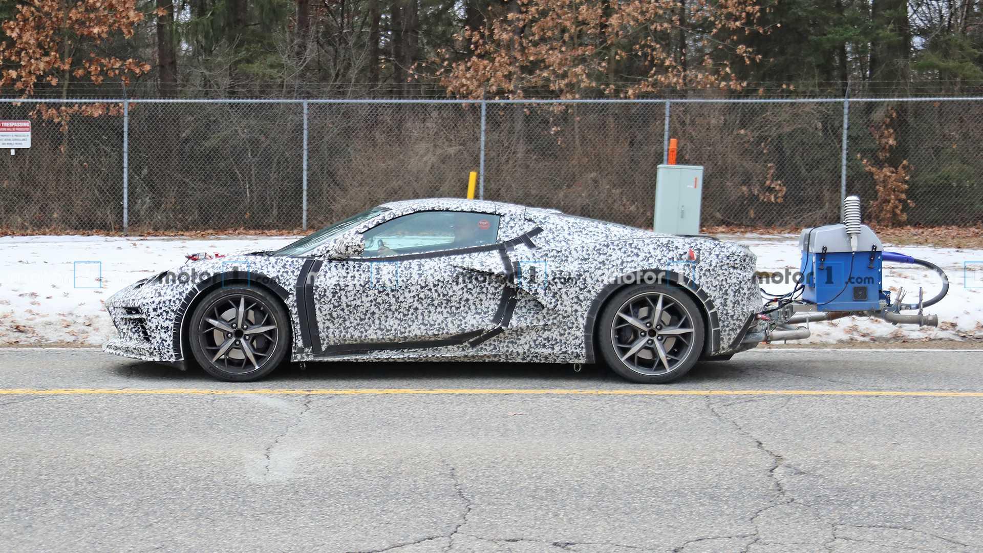 На тестах замечена гибридная версия Chevy Corvette C8?