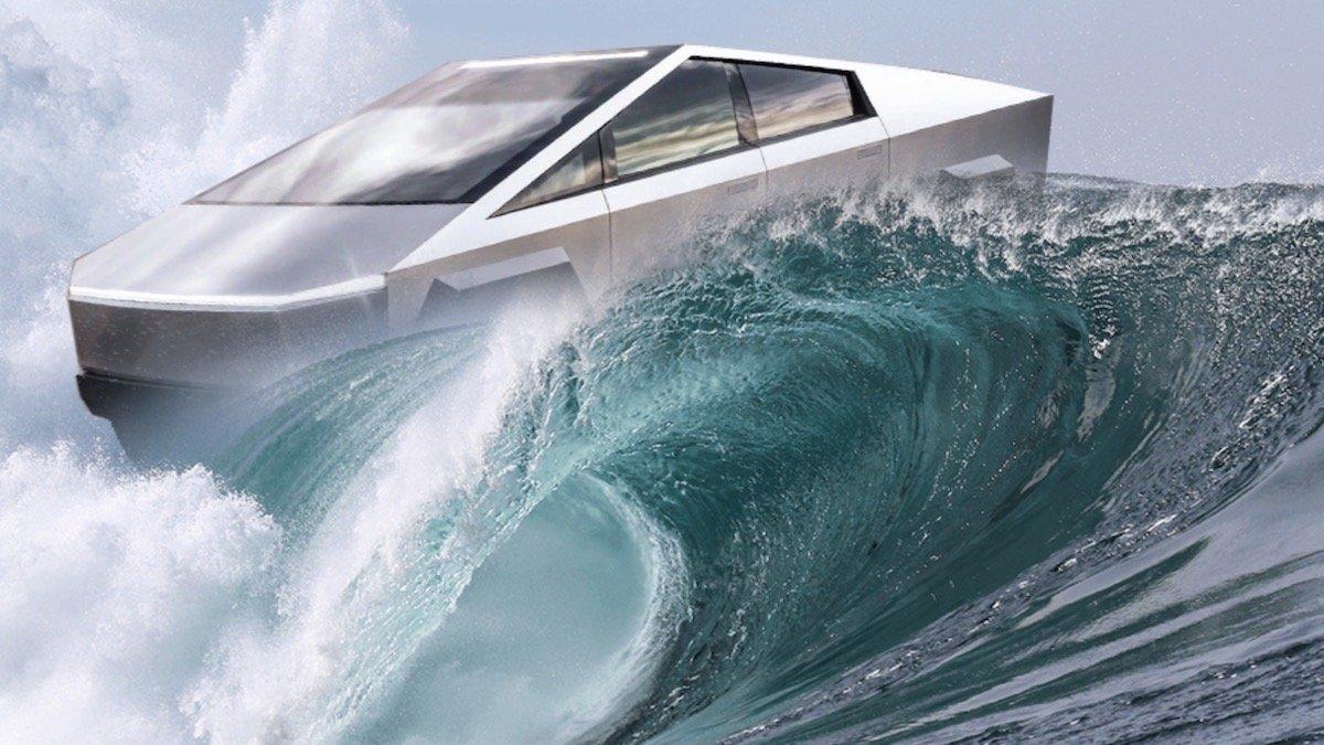 Электрический пикап Tesla сможет плавать