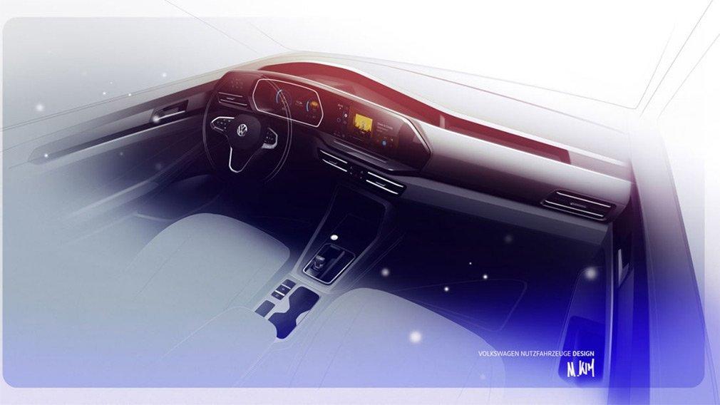 Новый Volkswagen Caddy раскрыли перед дебютом