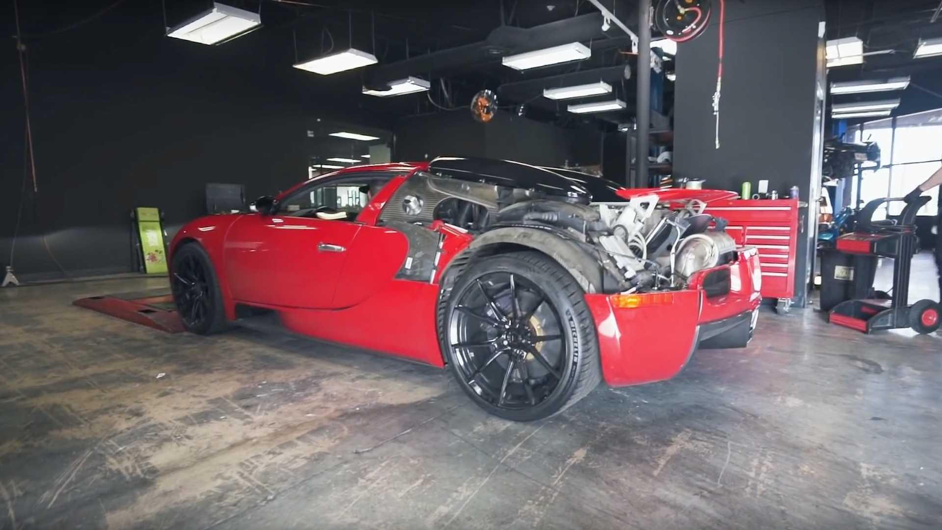 Старенький Bugatti Veyron показывает впечатляющую мощность на диностенде